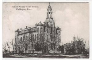 Court House Wellington Kansas 1908 postcard