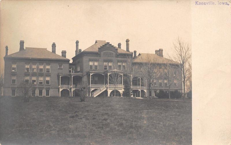 Knoxville Iowa~Blind Asylum Changed to State Hospital for Inebriates~c1912 RPPC