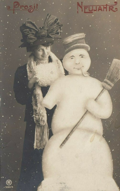 RP: Woman & Snowman , NEW YEAR , 00-10s
