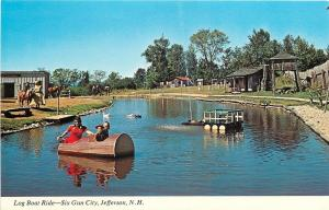 Jefferson New Hampshire~Six Gun City Amusement Park~Log Boat Ride 1960s