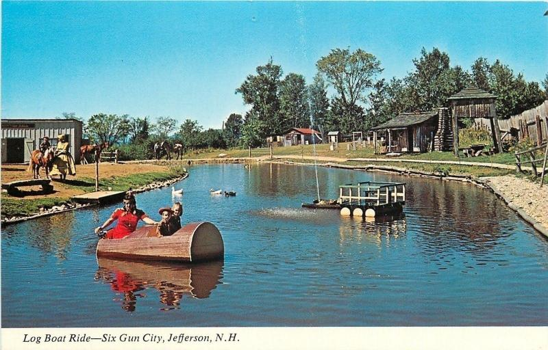 Jefferson New Hampshiresix Gun City Amu T Parklog Boat Ride 1960s Hippostcard