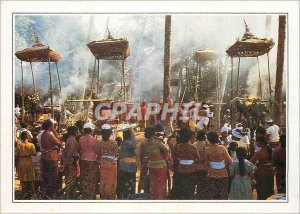 Postcard Modern Indonesia Bali a cremation