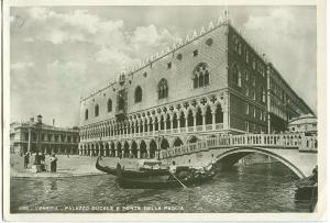 Italy, Venice, Venezia, Palazzo Ducale e Ponte Della Paglia, used real photo