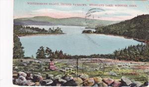Wintergreen Island, Second Narrows, Highland Lake, Winsted, Connecticut, PU-1910