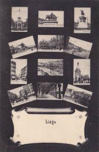 LIEGE , Belgium , 00-10s ; 12 view postcard