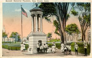 CT - New Haven - Bennett Memorial Fountain