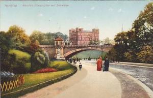 Kersten Milesbrucke Mit Seewarte, Hamburg, Germany, 1900-1910s
