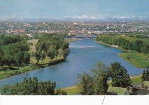 Canada Calgary Showing Bow River 1966