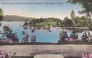 Vermont Basin Harbor View Of Lodge-On Lake Champlain Albertype