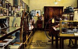 Missouri Hannibal Mark Twain Museum Interior Curteich