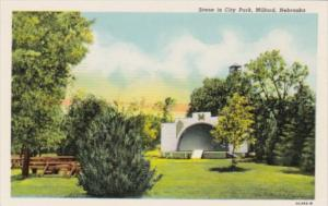 Nebraska Milford Scene In City Park Curteich