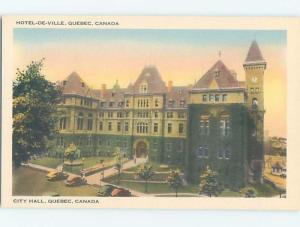 Unused 1930's HOTEL SCENE Quebec City QC B2036