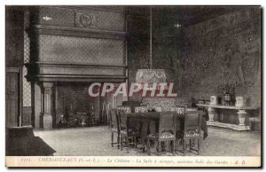 Old Postcard Chenonceaux Chateau La Salle a Manger old Hall Garles