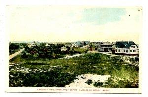 MA - Humarock Beach. Bird's Eye View from Post Office