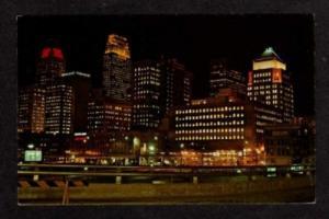 OH Night Lights on CINCINNATI OHIO Postcard PC