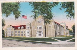 Illinois Aurora C M Bardwell School and Auditorium
