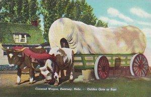 Nebraska Kearney Covered Wagon Golden Gate Of Bust