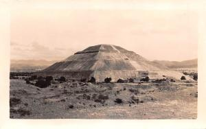 Mexico Old Vintage Antique Post Card Pyramid Real Photo, Unused