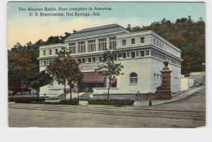 PPC POSTCARD ARKANSAS HOT SPRINGS THE MAURICE BATHS MOST COMPLETE IN AMERICA FRO
