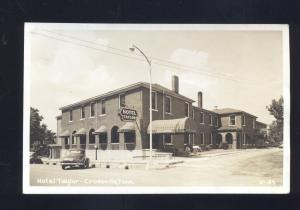 RPPC CROSSVILLE TENNESSEE 1940's CARS HOTEL TAYLOR VINTAGE REAL PHOTO POSTCARD