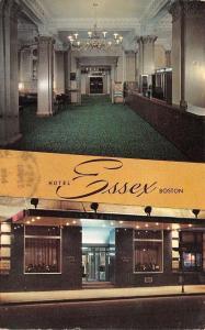 Boston Massachusetts~Hotel Essex~1960 Postcard