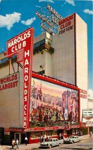 1950s Reno Nevada Harold's Club automobiles postcard 8343