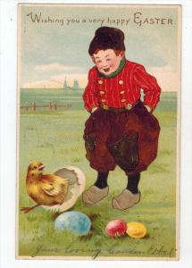 2291 Easter Dutch Boy with Hatching