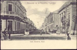 argentina, BUENOS AIRES, BOCA, Calle Olavarria, People (ca. 1899)