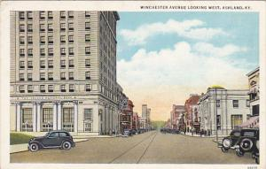 Kentucky Ashland Winchester Avenue Looking West Showing Second National Bank ...