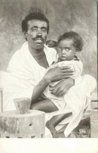 abyssinia, SOMALIA, Native Man with Young Child (1920s)