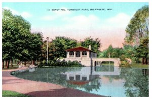 Humboldt Park Milwaukee Wisconsin Postcard
