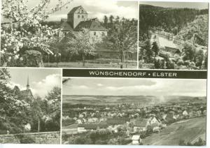 Germany, Wunschendorf Elster 1974 used real photo Postcard