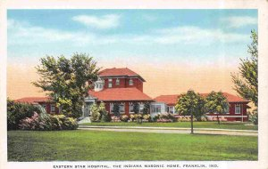 Eastern Star Hospital Indiana Masonic Home Franklin Indiana 1930s postcard