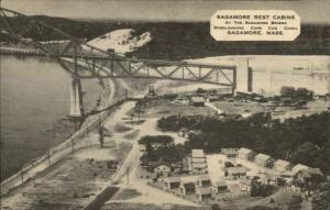 Sagamore Cape Cod MA Rest Cabins Birdseye View Postcard