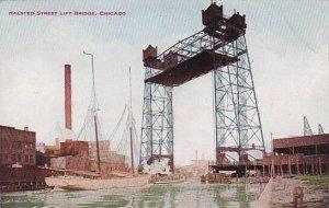 Illinois Chicago Halsted Street Lift Bridge 1910