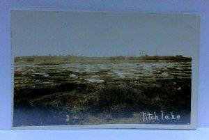 RPPC La Brea Trinidad Pitch Lake Real Photo Postcard