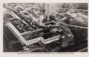 RP, OCEAN FALLS , B.C., Canada, 20s-40s; Aeroplane View of Pulp & Paper Mill