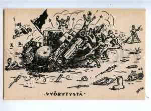 225908 RUSSIA RUSSIAN Finnish War Propaganda tank old postcard