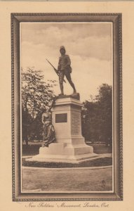 LONDON , Ontario , Canada , 1910-30s ; New Soldier's Monument ; TUCK