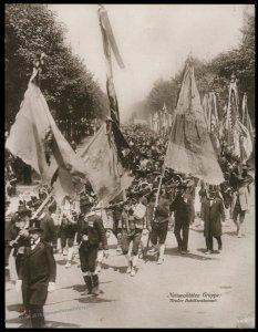 Austria 1908 Kaiser Franz Joseph Huldigungs Festival RPPC Tyrolian Rifles 94849