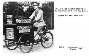 Wall's Ice Cream Tricycle by Courtesy of Wall's Ice Cream Croydon Postcard