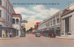 Florida Fort Myers Main Thoroughfare First Street Business Section sk5959