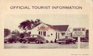 ONE-HALF OF ONTARIO CANADA DEPT OF TRAVEL & PUBLICITY COMMENT CARD 40's era auto