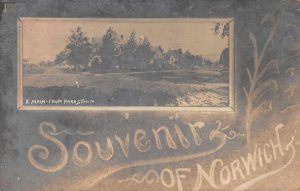 Norwich New York East Main from Park Real Photo Greetings Postcard JJ658893