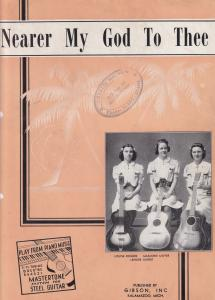 Nearer My God To Thee Learn Gibson Guitar Old Sheet Music