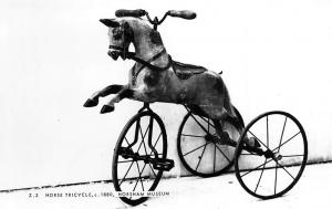 Horse Tricycle, c. 1880, Horsham Art Museum, Frith Real Photographic