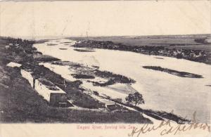 Umgeni River, flowing into the sea , South Africa , PU-1905