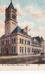 Massachusetts Worcester Post Office 1908