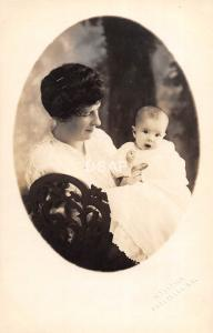 C17/ People Real Photo RPPC Postcard 1915 Frostburg Maryland Mother Baby 14