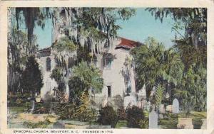 South Carolina Beaufort Saint Helena Episcopal Church Founded in 1712